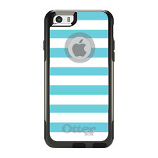 OtterBox Commuter for iPhone 5S SE 6 6S 7 Plus Blue & White Bold Stripes