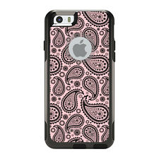OtterBox Commuter for iPhone 5S SE 6 6S 7 Plus Black & Pink Paisley