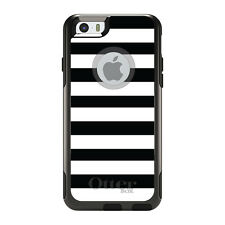 OtterBox Commuter for iPhone 5S SE 6 6S 7 Plus Black & White Bold Stripes