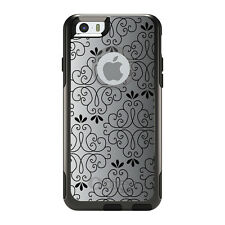 OtterBox Commuter for iPhone 5S SE 6 6S 7 Plus Black White Fade Black Floral