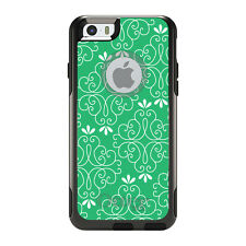 OtterBox Commuter for iPhone 5S SE 6 6S 7 Plus Light Green White Floral