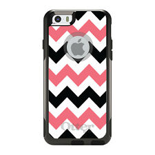 OtterBox Commuter for iPhone 5S SE 6 6S 7 Plus Black Pink Chevron Stripes