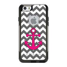 OtterBox Commuter for iPhone 5 5S SE 6 6S Plus Grey White Pink Chevron Anchor