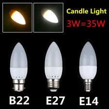 E27 E14 B22 LED Candle Light Bulbs 2835 SMD Spotlight Lamp Energy Saving Factory