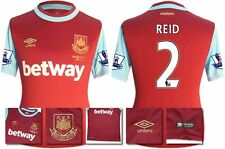 *15 / 16 - UMBRO ; WEST HAM UTD HOME SHIRT SS + PATCHES / REID 2 = SIZE*