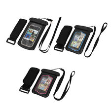 "Waterproof Case Dry Bag Skin Cover Pouch + Ear Plug Earphone for 3.5"" Cell Phone"