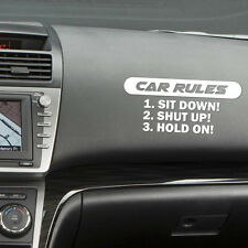 Car rules Decal slammed Car Truck vinyl Sticker JDM racing window decal funny VW