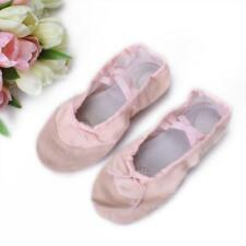 Pink Child Girls Women Canvas Ballet Dance Fitness Shoes Slippers Gym 13 Sizes