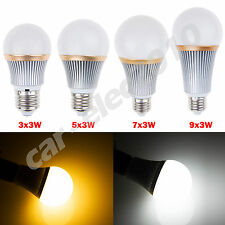 Dimmable 9W/15W/21W/27W E27 LED Globe Light Bulb Spot Lamp Warm/Cool White New