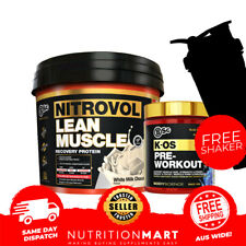 BSC NITROVOL LEAN MUSCLE MASS GAINER 3kg + BSC K-OS PRE WORKOUT 30 SERVES