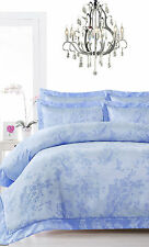 400TC NANJING Blue Oriental Chic Jacquard Quilt Doona Cover Set - QUEEN KING