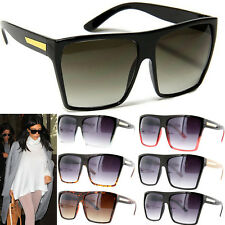Square Flat Top Large Sunglasses Big Oversized Huge Gradient Frame Women Aviator