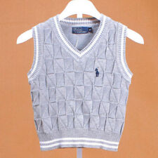 100% Cotton kids Tank Top Boys Girls Children's Knit Tank Top waistcoat 2-6 Y