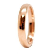 4mm Rose Gold Plated Domed Tungsten Carbide Wedding Ring Size 4-14