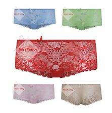 Sexy Lace French Knickers See Through Briefs Womens Underwear 045