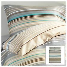 Ikea Palmlilja Duvet Quilt Cover Beige Turquoise Stripe Twin Full Queen King New