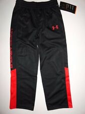 NWT Under Armour Boy's 4 6 7 Brawler Warm-up Pants Black Red Allseasongear