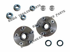 5 STUD HOLDEN COMMODORE HUBS WITH FORD or SLIMLINE  BEARING KITS TRAILER HUBS