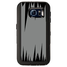 CUSTOM OtterBox Defender Case for Galaxy S5 S6 S7 Grey Black Spikes
