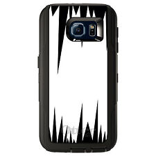 CUSTOM OtterBox Defender Case for Galaxy S5 S6 S7 White Black Spikes
