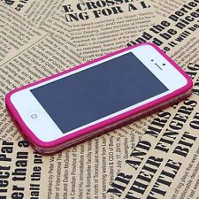 Color Clear Thin TPU Silicone Rubber Bumper Slim Frame Case for iPhone 5 5C 5S