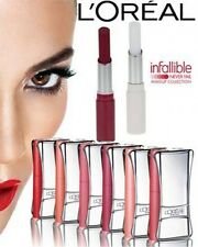 L'OREAL INFALLIBLE LIP DUO COMPACT LIPSTICK 16HRS ALL CARDED or SEALED- FREE P&P