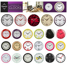 STYLISH ROUND LARGE RETRO MODERN WALL CLOCKS HOME OFFICE KITCHEN BEDROOM DECOR