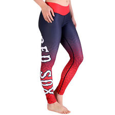 Women's Boston Red Sox Navy Blue/Red Big Logo Gradient Print Leggings - MLB