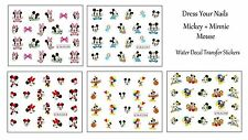 """Disney Cartoon """"Mickey Mouse + Minnie Mouse  Water Decals Nail Art  Stickers"""""""