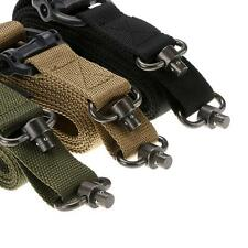 """Tactical 1 or 2 Point Multi Mission 1.25"""" Rifle Sling Quick Detach QD Swivel End"""