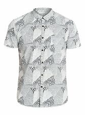 Quiksilver Excess Shirt  Short Sleeve Slim Fit Shirt Mens - White (WBK6)