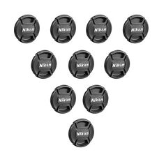 52 58 67 77 mm Center Pinch Covers For Nikon DSLR Front Len Cap Snap-On Filter