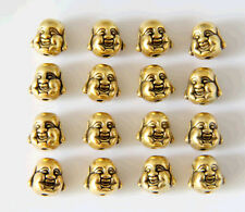 wholesale two sided Buddha head antique gold ,silver alloy spacer beads 100pcs