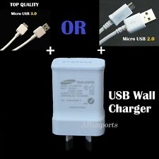Genuine Samsung USB 2A AC Wall Charger&Data Cable for Galaxy S4 S5 S6,S7 Note 3