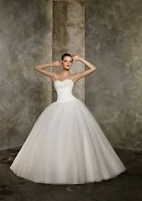 HOT New White/ivory Wedding Dress Organza Bridal dress Gown Size 6 8 10 12 14 16