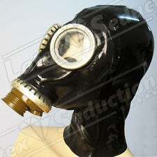 PREMIUM LATEX GASMASK HOOD -  Rubber Gummi Gas Mask