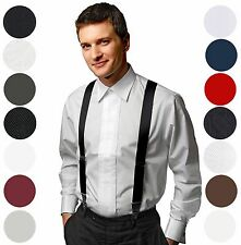 Mens suspenders Fancy Tubed Silk Clip on Dress Suspenders - 5 Colors 4 designs