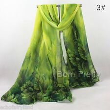 Leaves Voile Long Scarf Personality Autumn & Winter Scarves Warm Fashion Gift