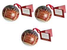 3 x Yankee Candle Christmas Tree BAUBLES Gift Set 3 Melts inside New for 2015