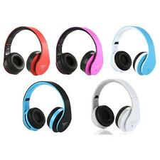 Wireless Bluetooth Stereo Headset Headphone TF MP3 FM For iPhone Samsung PC O0XA