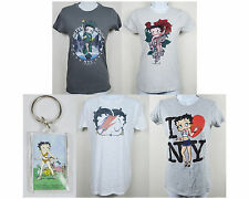 NEW BETTY BOOP Juniors Short Sleeve Graphic T Shirt Free Key Chain