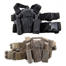 Tactical Left Leg Thigh Hand Holster w/ Magazine Torch Pouch Colt 1911 M1911