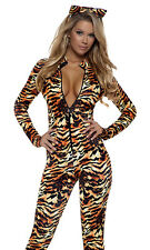 Seductive Stripes Sexy Tiger Costume by Forplay Catsuit Ear Headband Made in USA
