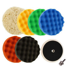6inch (150mm) Waffle Buffing & Polishing Pad Set & Woolen Pad For Car Polisher