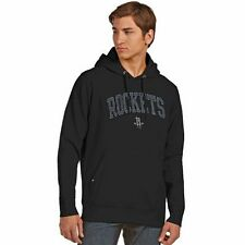 Men's Antigua Black Houston Rockets Signature Carbon Pullover Hoodie - NBA