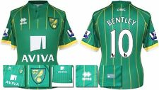 *15 / 16 - ERREA ; NORWICH CITY AWAY SHIRT SS + PATCHES / BENTLEY 10 = SIZE*