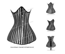 Full Double Steel Boned Waist Training Brocade Underbust Corset #HC8422-DB(STR)