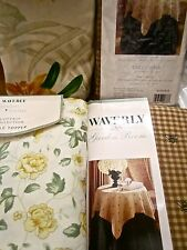 Waverly Table Topper Table Cloth: Country Inn Paradise Island Tropical Ruffled