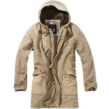 Brandit Woodson Mens Parka Warm Winter Military Coat Hooded Outdoor Jacket Camel