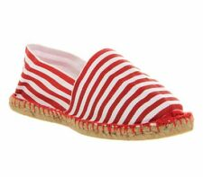 Mens Office Solemate Espadrilles RED WHITE STRIPE Casual Shoes